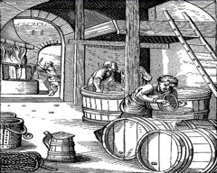 brewing beer in the middle ages