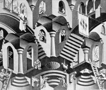 M. C. Escher Convex and Concave