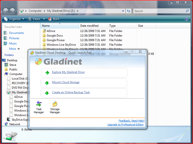 Gladinet, Skydrive, Cloud Computing
