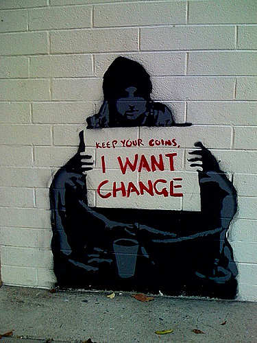 I want change