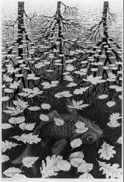 M. C. Escher Three Worlds